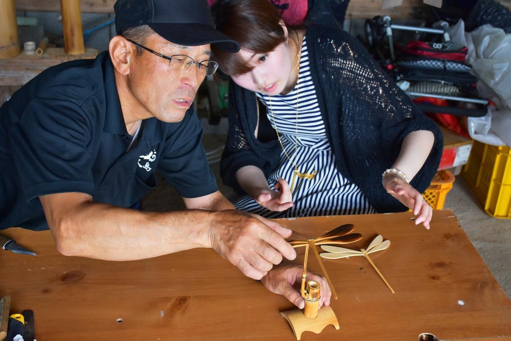 竹細工作り体験-1