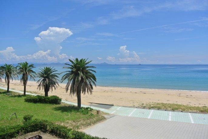 まるで南国のような景色が広がる スゲ浜海水浴場-1