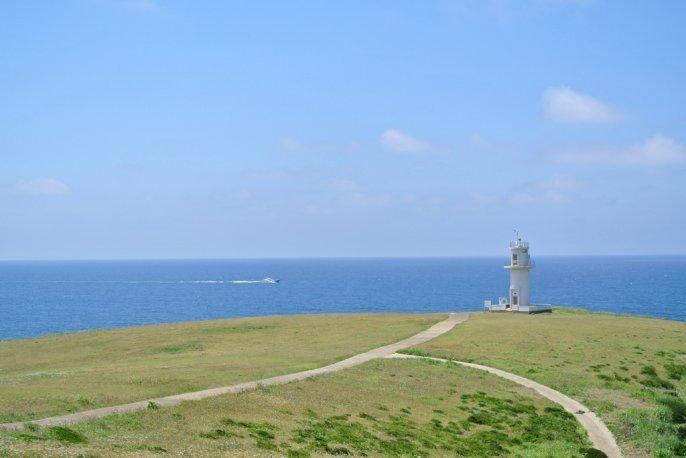島の最北端の絶景 対馬瀬灯台-1