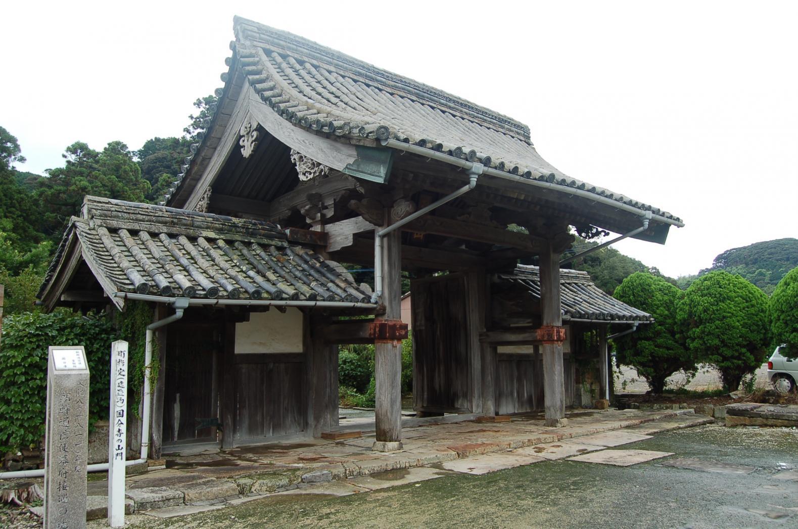 国分寺(山門・木像薬師仏)-1